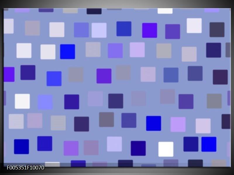 Glas schilderij Modern | Blauw, Wit, Grijs
