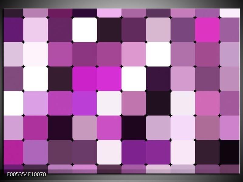 Glas schilderij Modern | Grijs, Paars, Roze