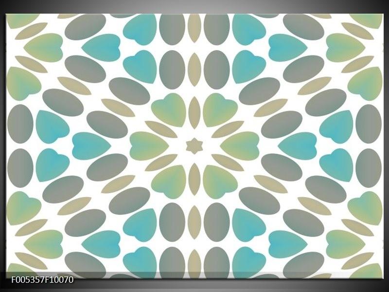 Glas schilderij Modern | Blauw, Groen, Wit