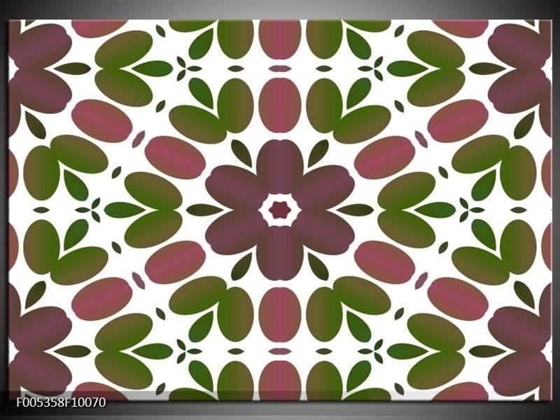 Glas schilderij Modern | Groen, Bruin, Wit