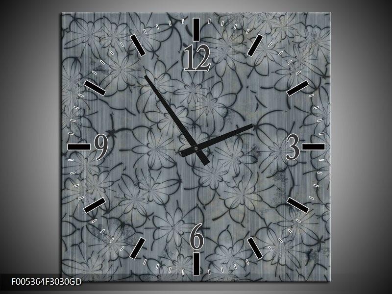 Wandklok op Glas Modern | Kleur: Grijs | F005364CGD