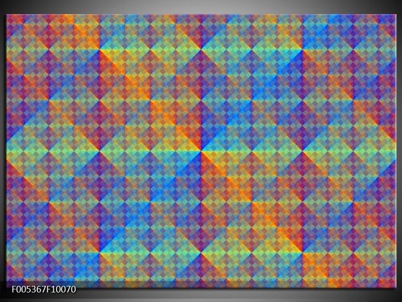 Glas schilderij Modern | Blauw, Groen, Oranje