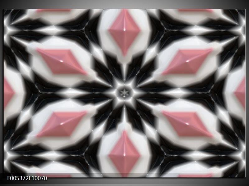 Glas schilderij Modern   Roze, Zwart, Wit