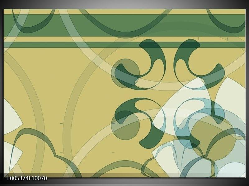 Glas schilderij Modern | Groen, Grijs