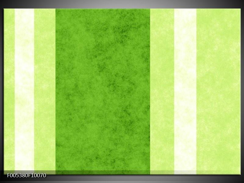Glas schilderij Modern | Groen, Wit