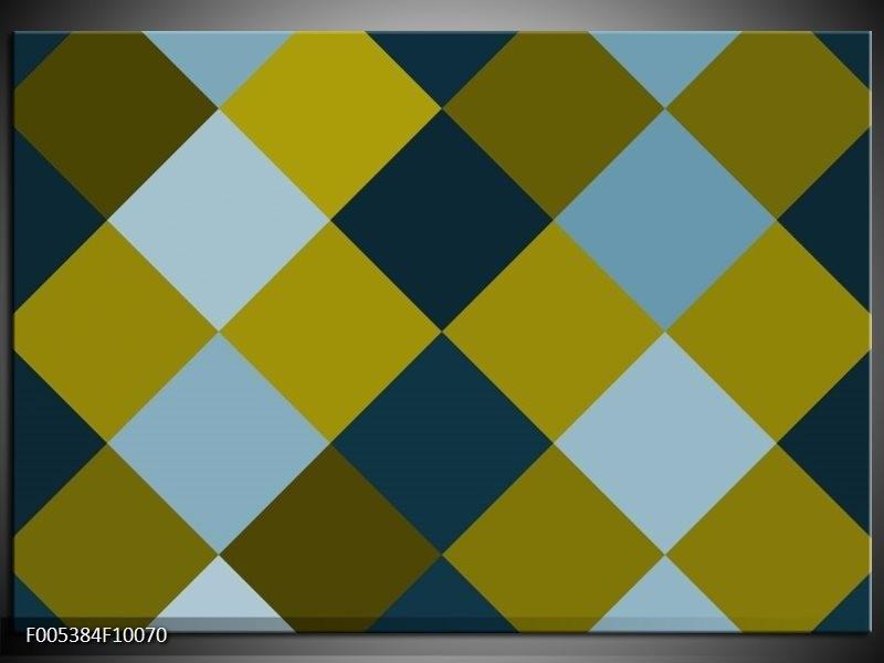 Glas schilderij Modern | Blauw, Groen, Geel