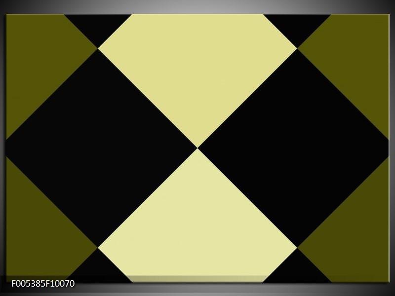 Glas schilderij Modern | Zwart, Wit, Groen
