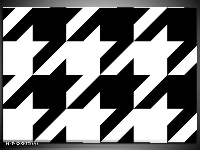 Glas schilderij Modern | Wit, Zwart