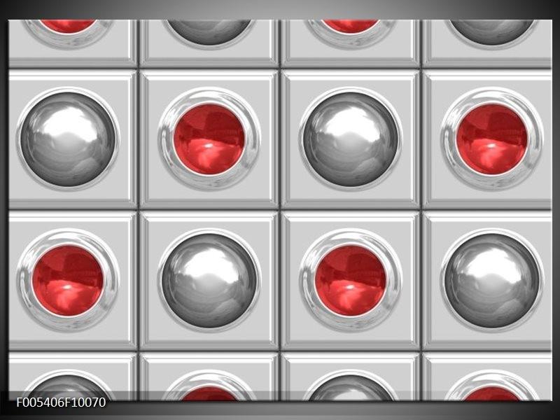Glas schilderij Modern | Rood, Grijs