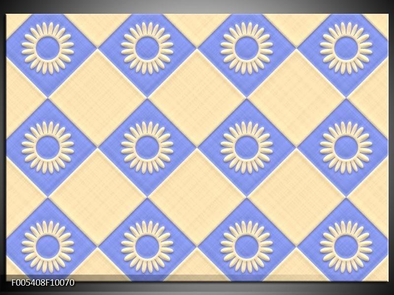 Glas schilderij Modern | Wit, Blauw