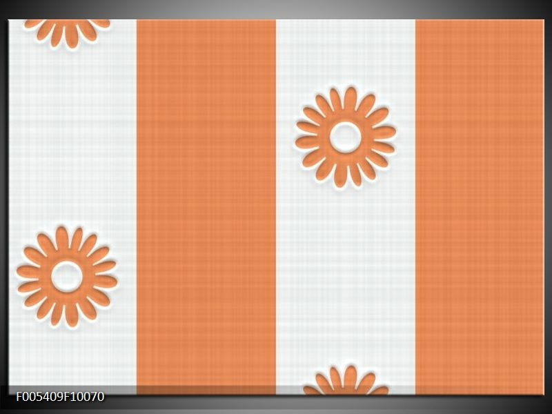 Glas schilderij Modern   Oranje, Wit