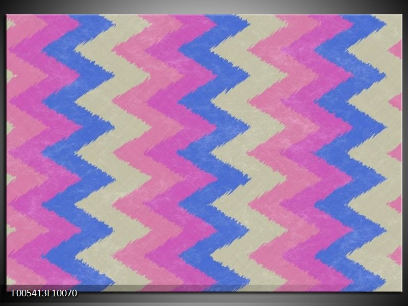 Glas schilderij Modern | Blauw, Paars, Roze