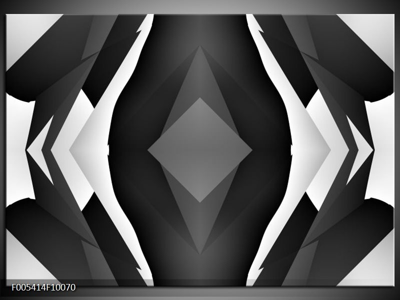 Glas schilderij Modern   Zwart, Wit, Grijs