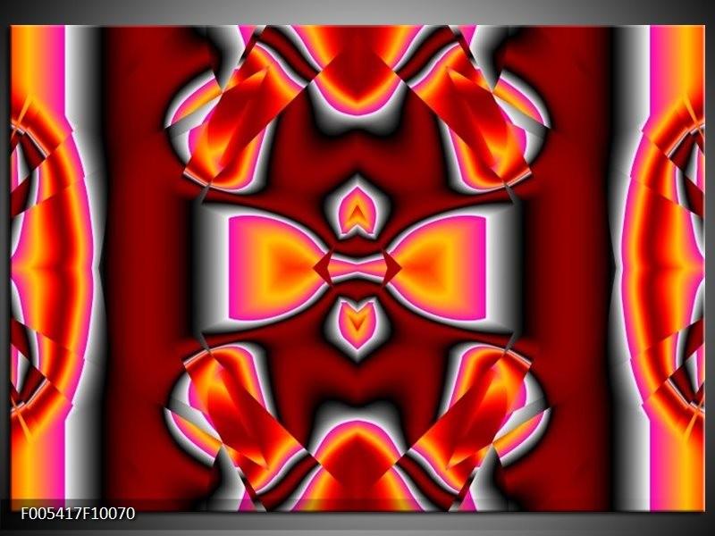 Glas schilderij Modern   Rood, Grijs, Geel