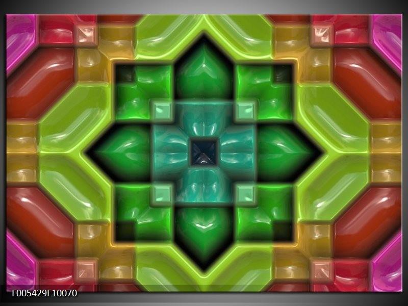 Glas schilderij Modern | Groen, Rood, Geel