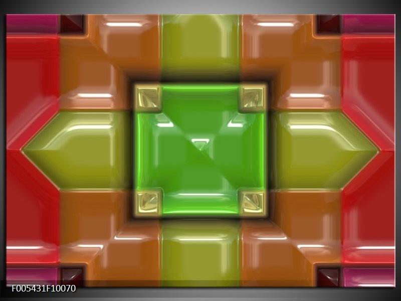 Glas schilderij Modern   Groen, Rood, Geel