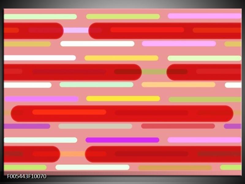 Glas schilderij Abstract | Rood, Paars, Wit
