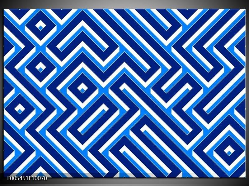 Glas schilderij Abstract   Blauw, Wit