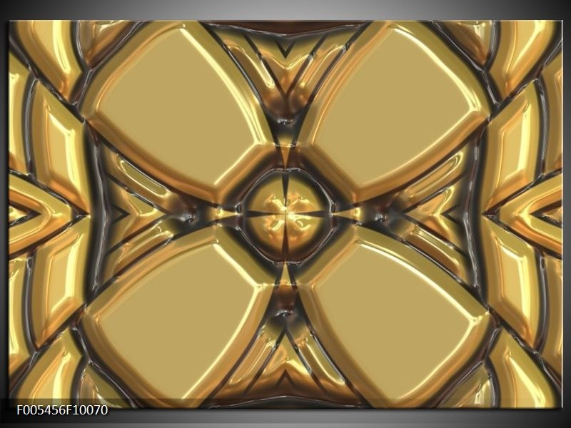 Glas schilderij Abstract   Goud, Grijs