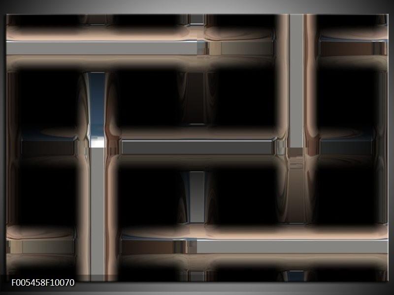 Glas schilderij Abstract | Zwart, Grijs