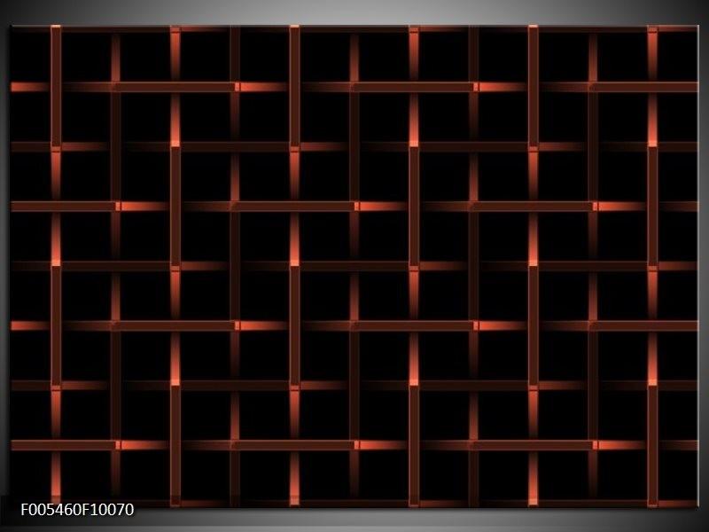 Glas schilderij Abstract   Rood, Zwart