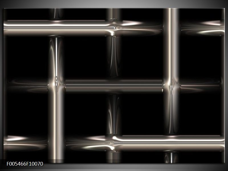 Glas schilderij Abstract | Zwart, Wit, Grijs