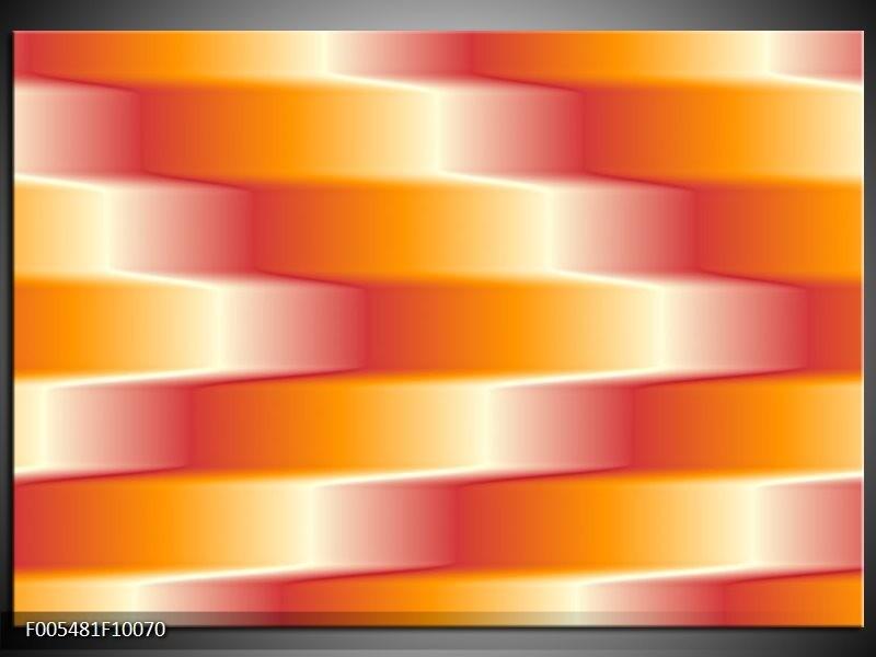 Glas schilderij Abstract   Oranje, Geel, Rood