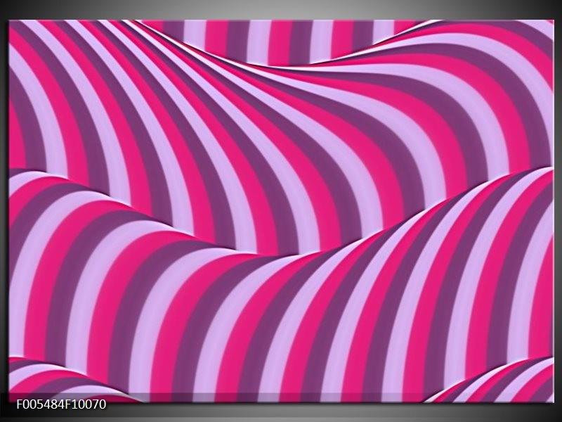 Glas schilderij Abstract | Paars, Roze