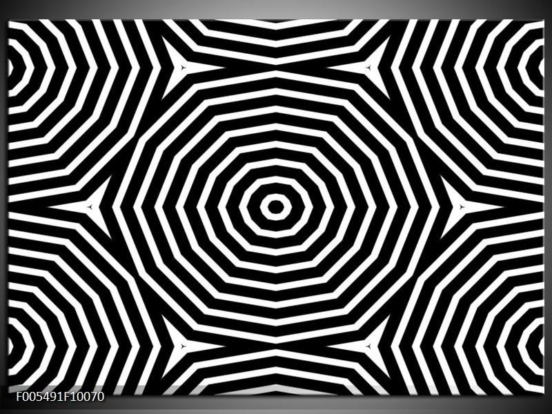 Glas schilderij Abstract | Zwart, Grijs, Wit