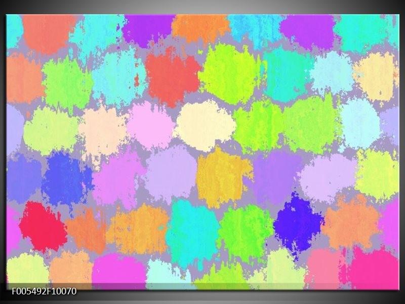 Glas schilderij Abstract | Groen, Paars, Blauw