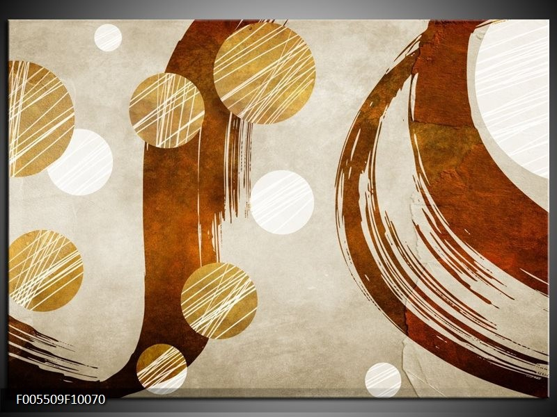 Glas schilderij Art   Bruin, Crème