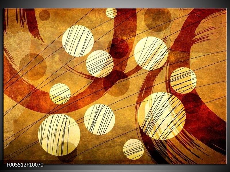 Glas schilderij Art   Bruin, Geel