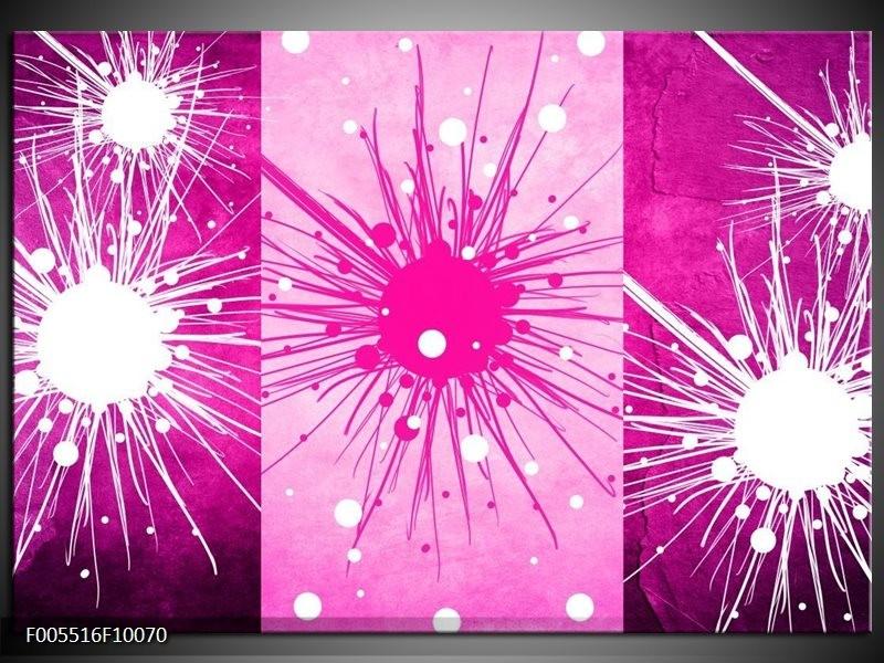 Glas schilderij Art   Roze, Paars, Wit