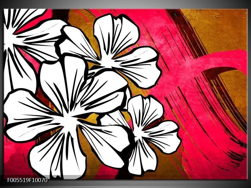 Glas schilderij Art   Wit, Roze, Bruin
