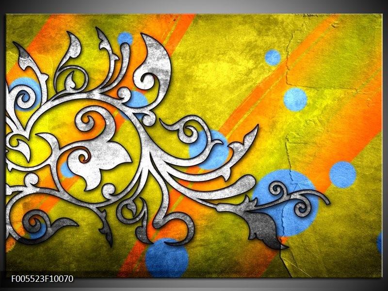 Glas schilderij Art | Geel, Groen, Blauw
