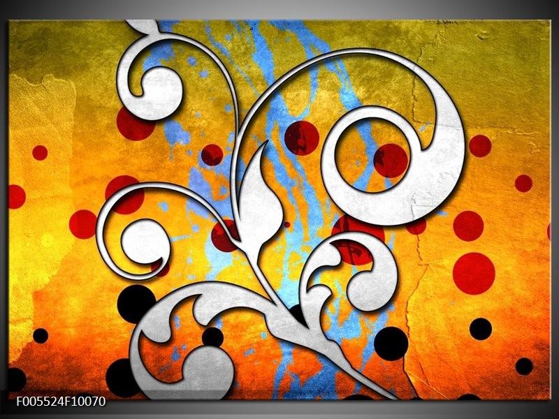 Glas schilderij Art   Oranje, Wit, Rood