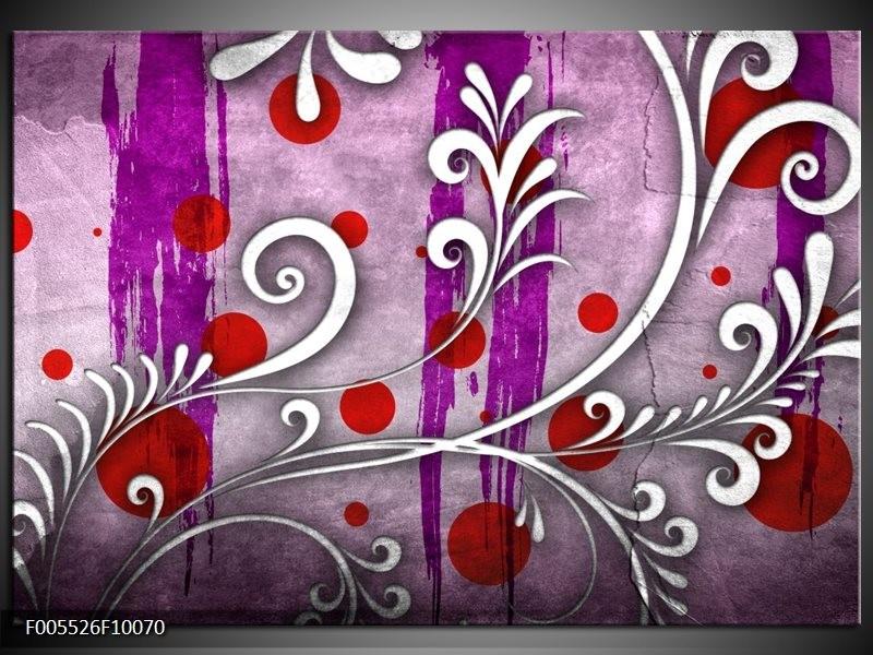 Glas schilderij Art | Paars, Grijs, Rood