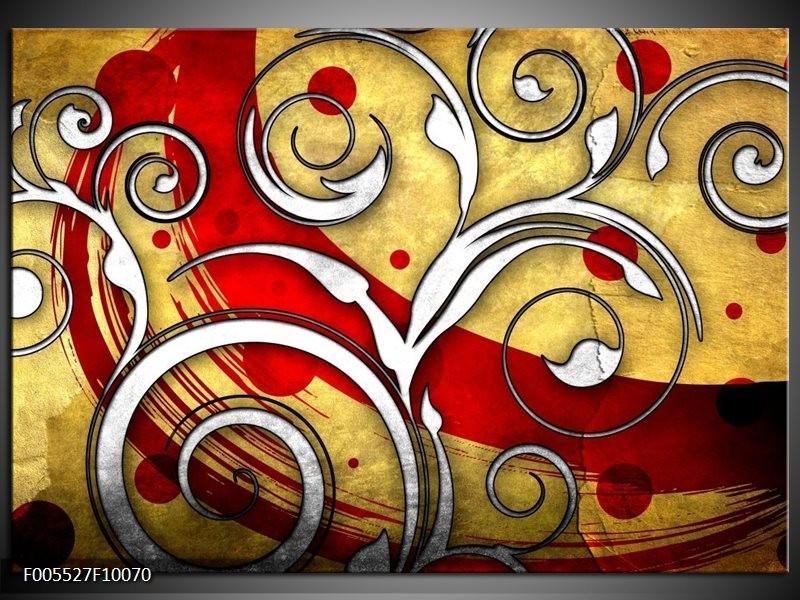 Glas schilderij Art   Rood, Wit, Geel