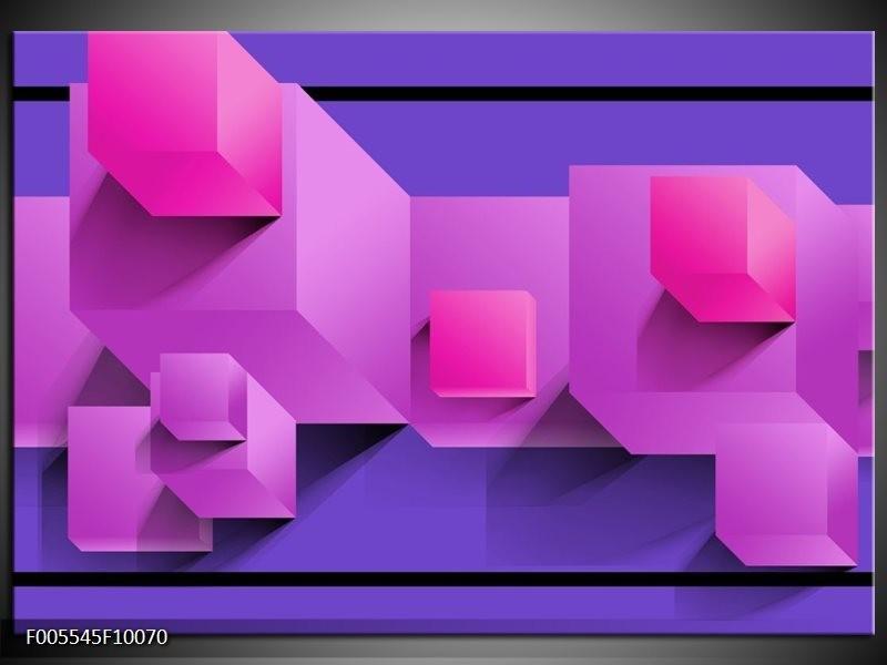 Glas schilderij Vierkant | Paars, Blauw, Roze
