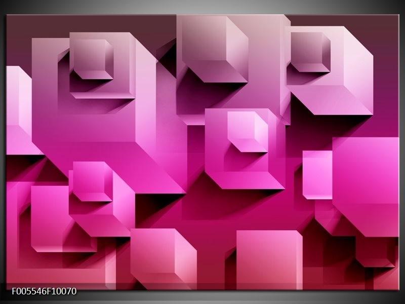 Glas schilderij Vierkant | Paars, Wit, Roze