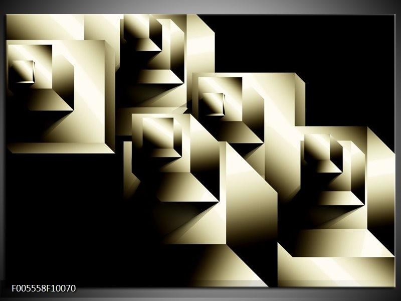 Glas schilderij Art | Grijs, Zwart