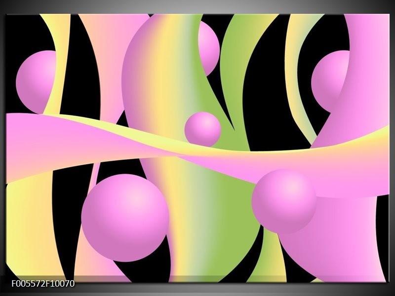 Glas schilderij Art | Zwart, Groen, Paars