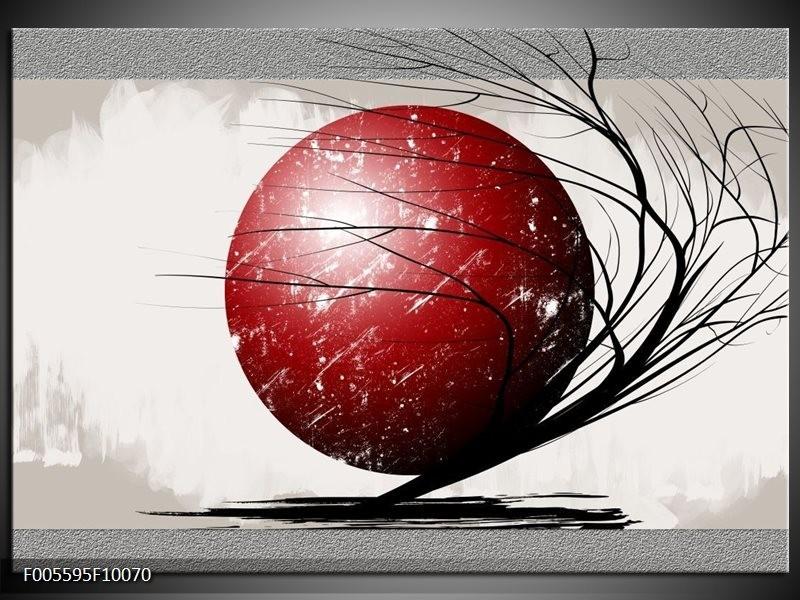 Glas schilderij Art | Rood, Zwart, Grijs