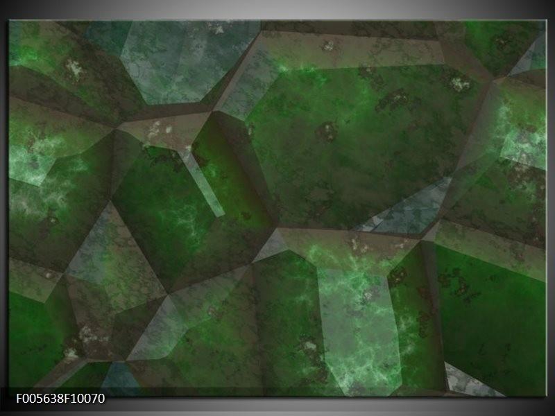 Glas schilderij Art | Groen, Zwart