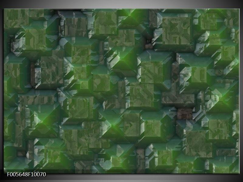 Glas schilderij Art | Groen