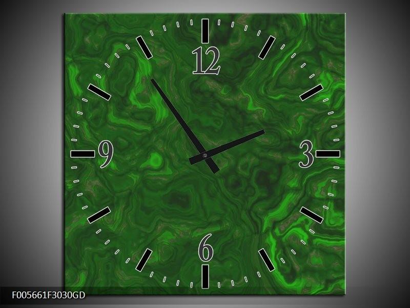 Wandklok op Glas Art | Kleur: Groen, | F005661CGD