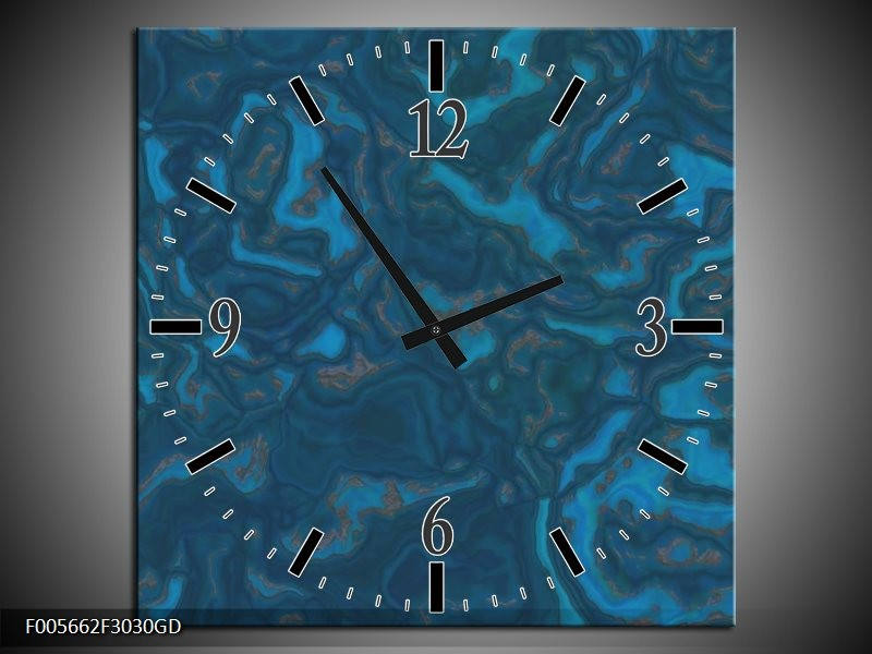 Wandklok op Glas Art | Kleur: Blauw | F005662CGD