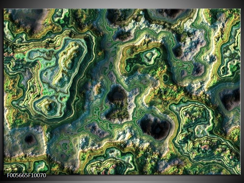 Glas schilderij Art | Groen, Geel, Zwart