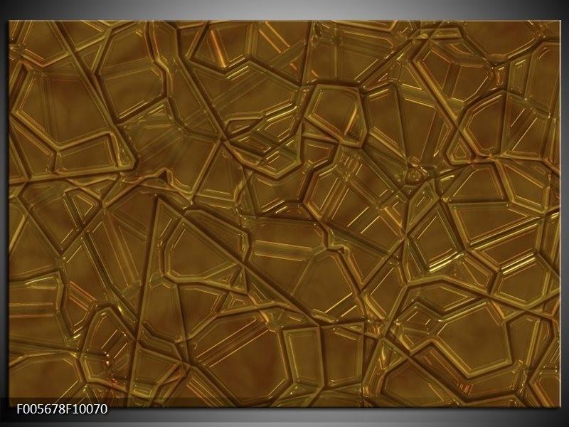 Glas schilderij Art | Bruin, Goud