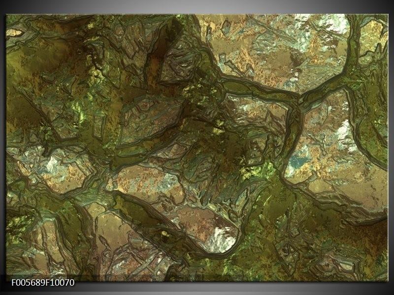 Glas schilderij Art | Groen, Goud